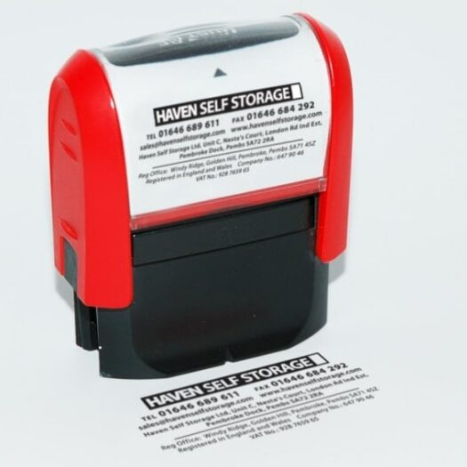 self inking rubber stamps made in Pembrokeshire