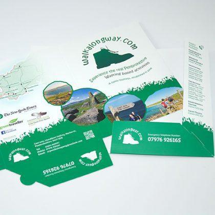 A5 Presentation folder designeres Pembrokeshire Tenby Narberth Haverfordwest