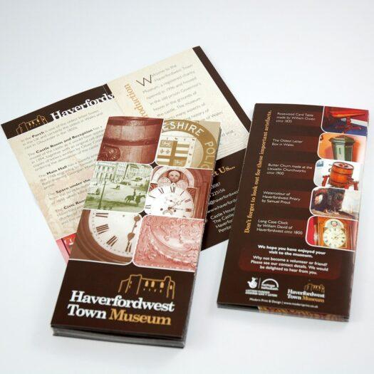 leaflet designers in Pembrokeshire Havefordwest