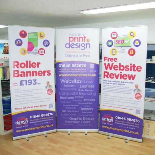 roller banner makers Pembrokeshire
