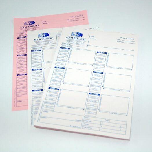 custom invoice book printers