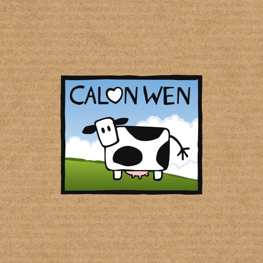 Creating Pack Shot Photography in Photoshop for The Calon Wen Dairy Pembrokeshire Graphic Design Case Study
