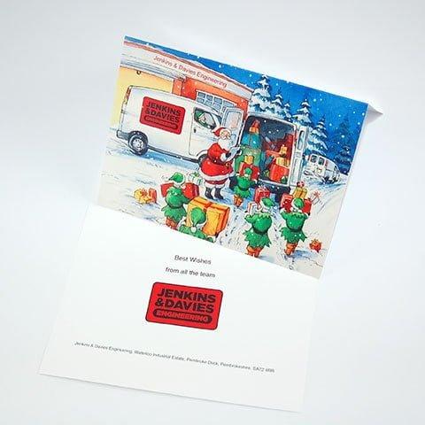 Bespoke Christmas card printers Pembrokeshire