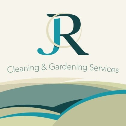 Logo for JR Cleaning & Gardening Corporate Branding Case Study