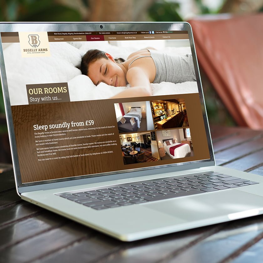 The Begelly Arms Website Designed In Pembrokeshire Web Design Case Study