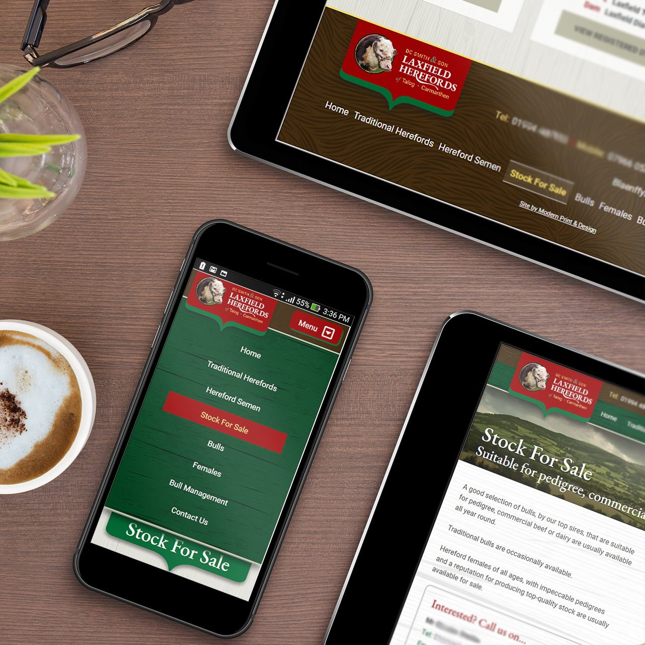 Laxfield Herefords Website Designed In Pembrokeshire Web Design Case Study