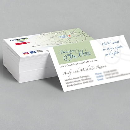 Business card designers Pembrokeshire Narberth Tenby Haverfordwest