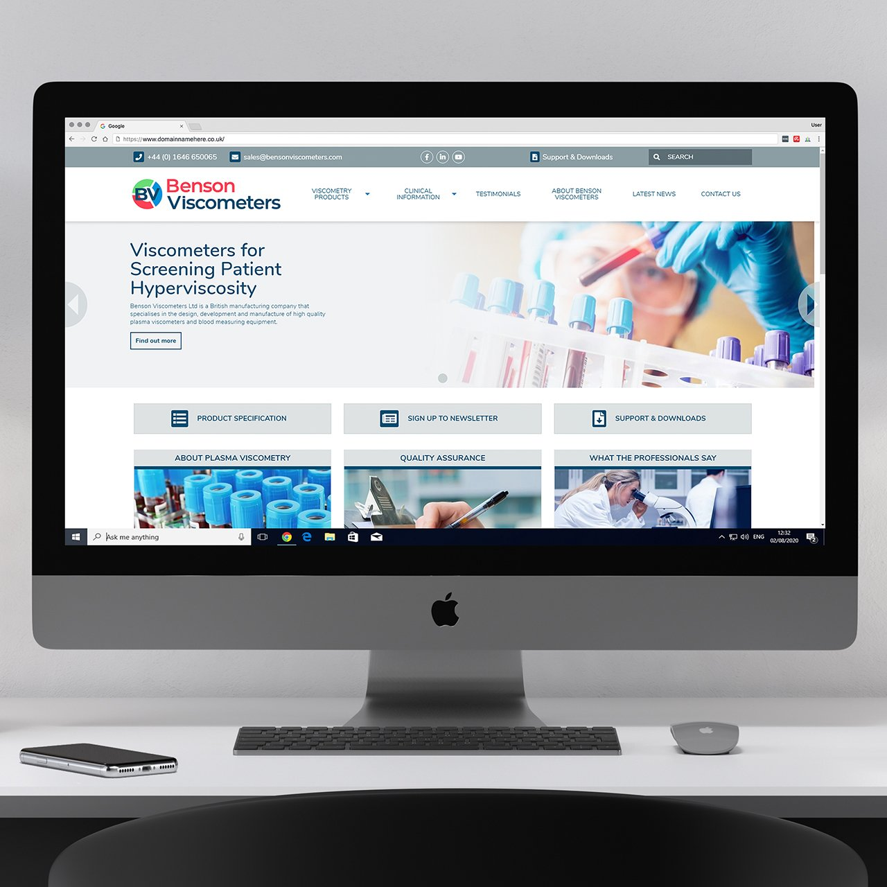 Benson Viscometers Website Designed in Pembrokeshire case studyWeb Design Case Study