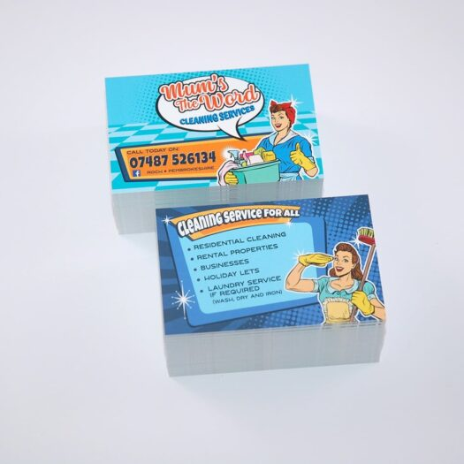 Business Card designers Pembrokeshire Tenby Narberth Havaerfordwest for Mums the Word Haverfordwest