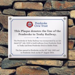 Printed Plaques Pembrokeshire tenby Narberth Haverfordwest