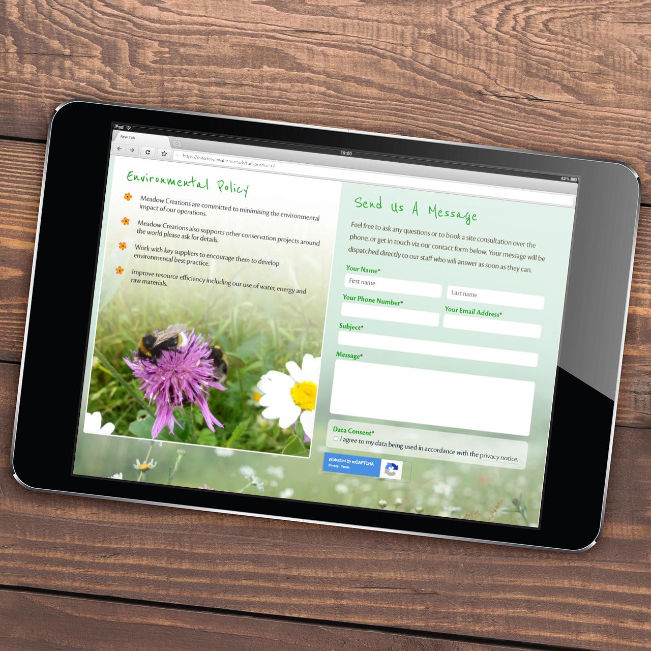 Pembrokeshire Web Designers for Meadow CreationsWeb Design Case Study