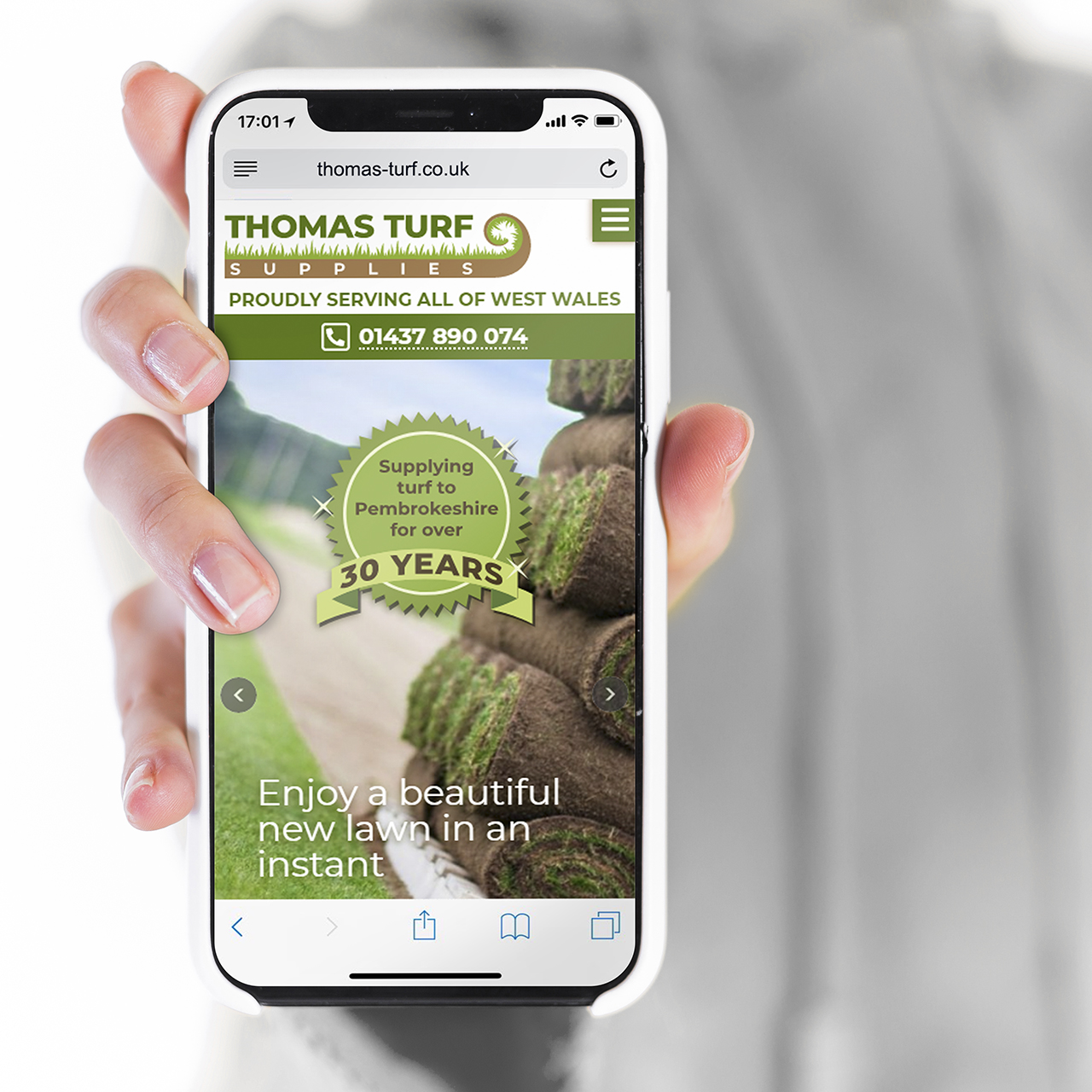 Web designers in Pembrokeshire for Thomas Turf Web Design Case Study