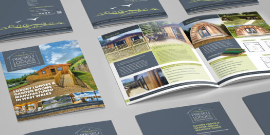 Graphic designers for Preseli Lodges Pembrokeshire tenby narberth haverfordwest