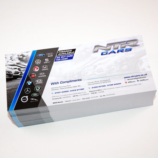 Compliment slip printers pembrokeshire tenby narberth haverfordwest