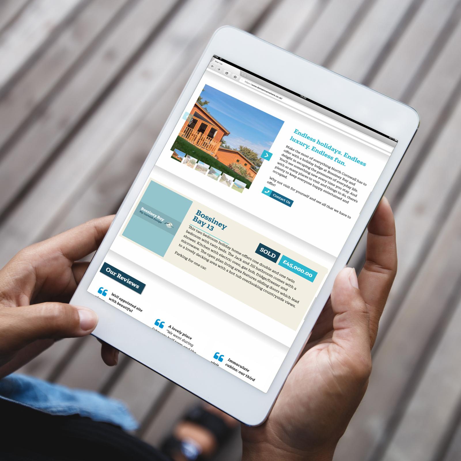 Holiday website designed for Bossiney BayWeb Design Case Study