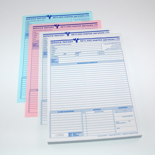 Custom invoice book printers in Pembrokeshire tenby narberth Haverfordwest